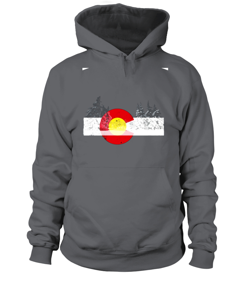 Colorado Flag Mountain Butterfly Mens Printed Hooded Sweatshirt Sweater