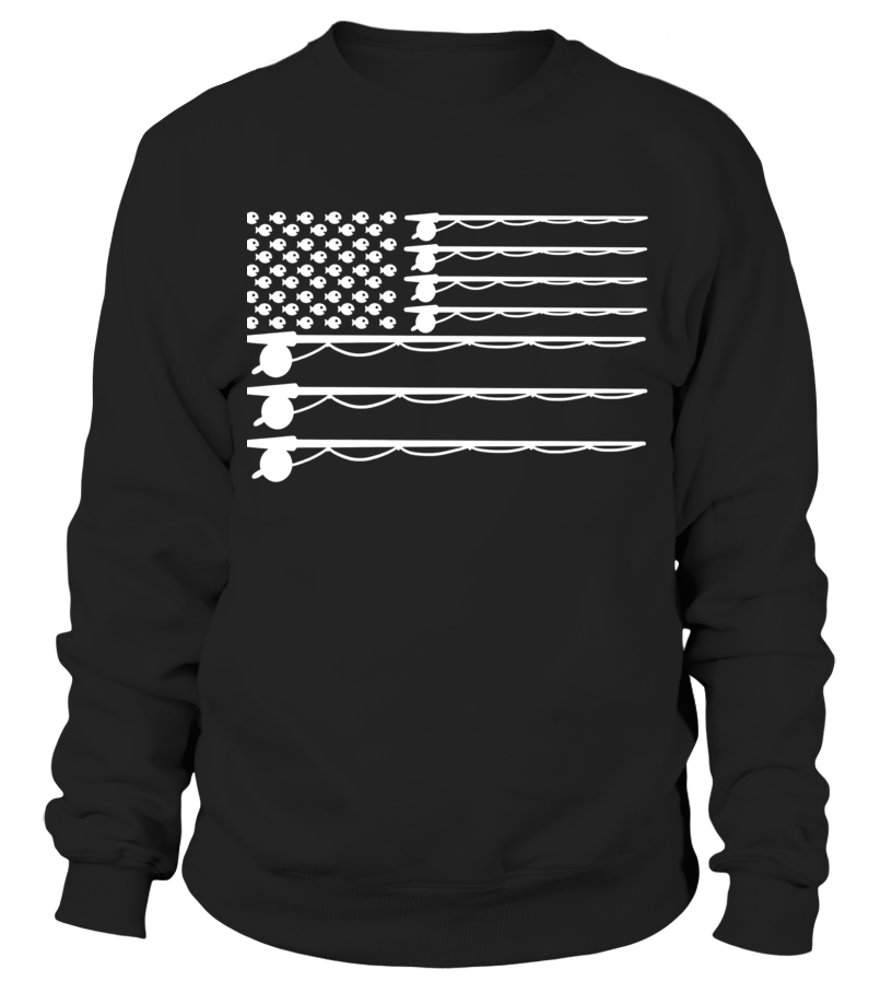 51d5baa2ba Fly Fishing American Flag | Funny Fishing T-shirt - Sweatshirt | Teezily