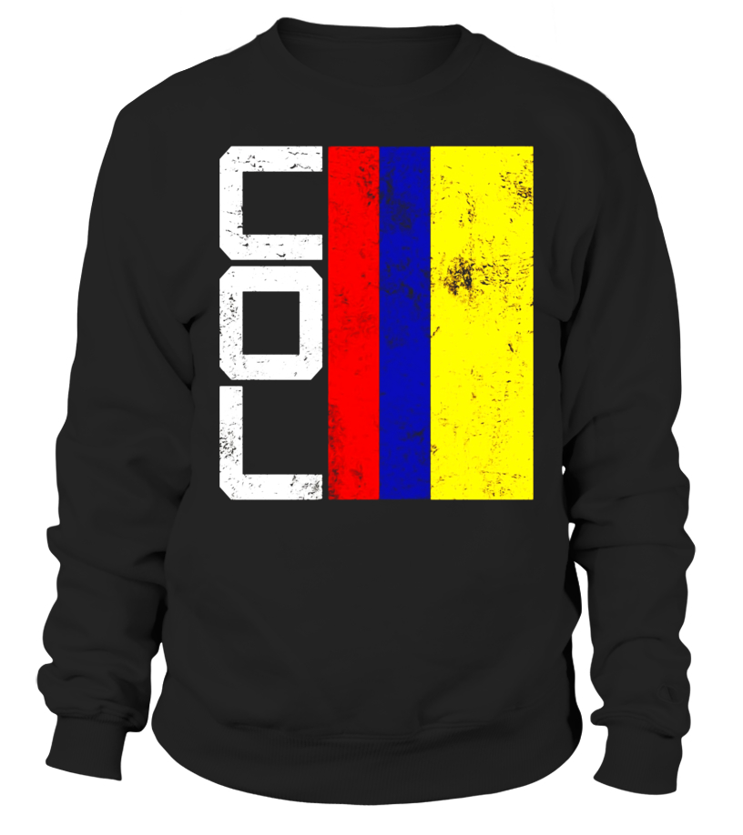 7c9cb3529a3 Colombia Flag T-shirt National Team Country Supporter COL - Sweatshirt