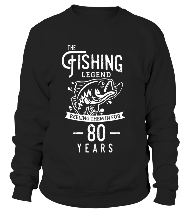 Fishing Legend 80 Years Old Birthday Gift For Fisherman
