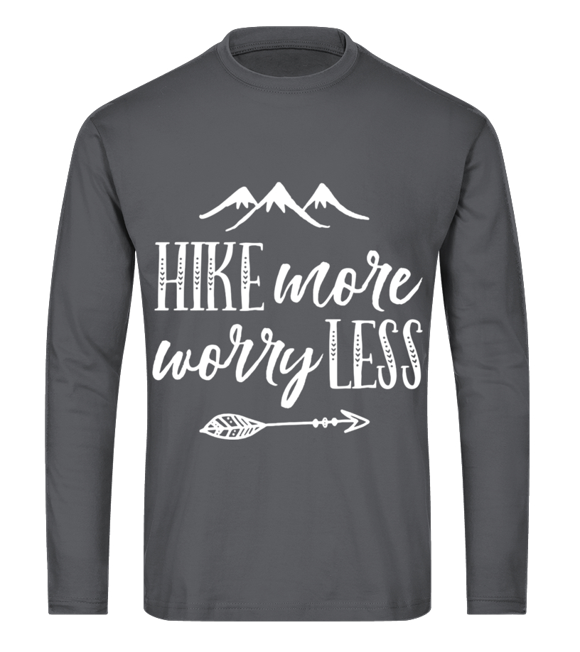 14379937 Womens Hike More Worry Less Hiking Camping Graphic Tees Men Women ...