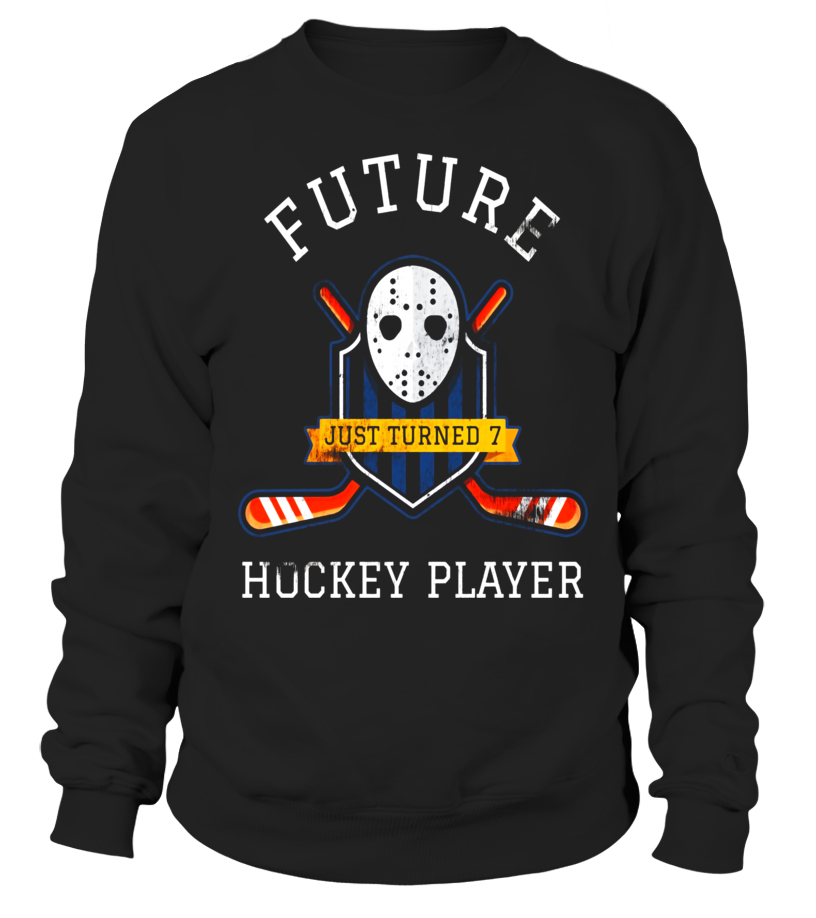 Kids Ice Hockey 7th Birthday T Shirt For 7 Year Old