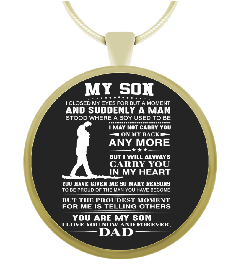 f5e59c3a3442 Proud Of You - Dogtag For Son ! - Necklace | Teezily
