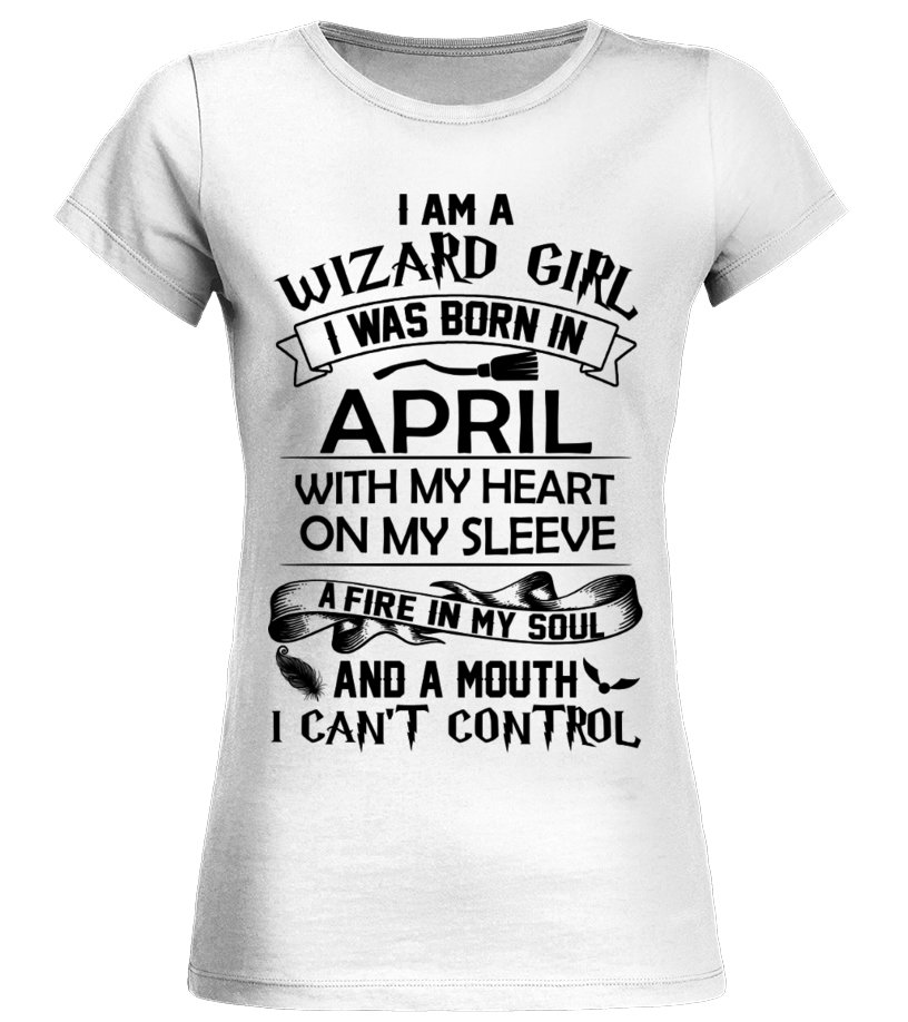 5f667bba HARRY POTTER APRIL GIRL WIZARD A MOUTH CAN'T CONTROL T-SHIRT - T ...