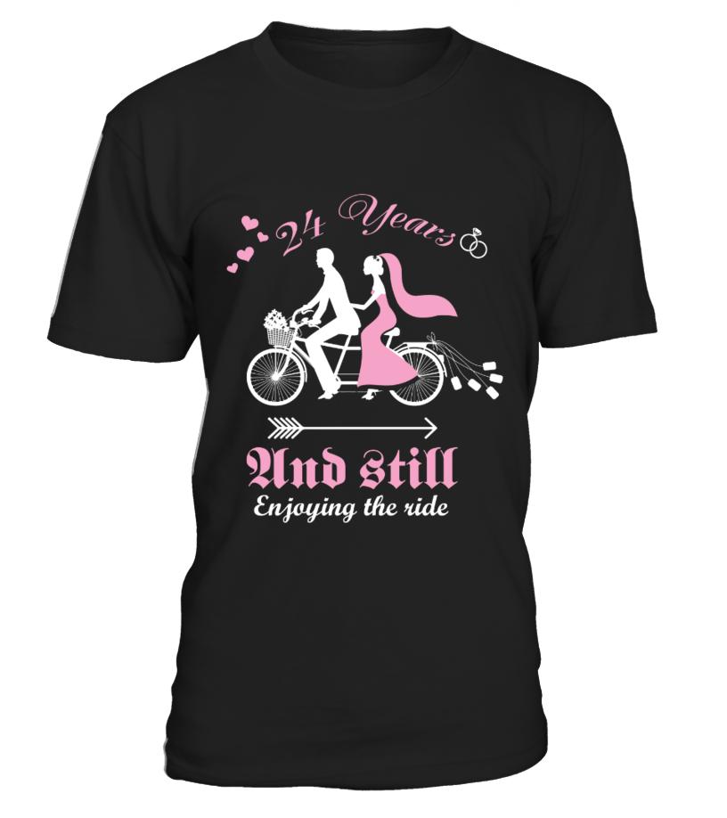 24 Years Wedding Anniversary Gift Shirt T Shirt Teezily