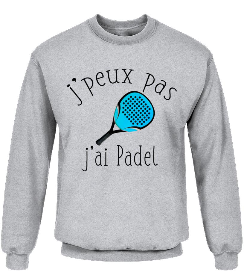 TEEZILY Sweat /à Capuche Unisex Jpeux Pas JAi Padel