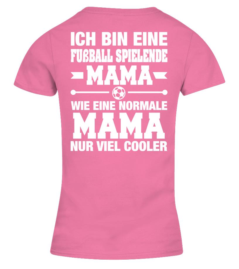 Fussball Spielende Mama T Shirts Damen Herren Schwarz