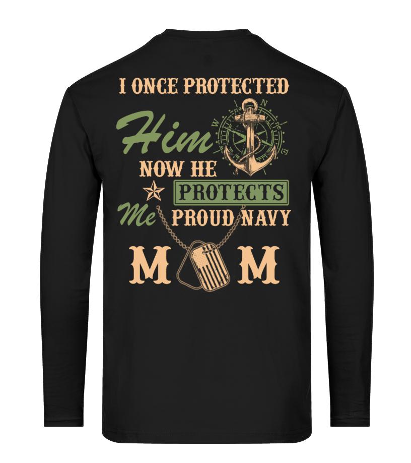 tee Proud Navy Mom Pink Heart Unisex Sweatshirt