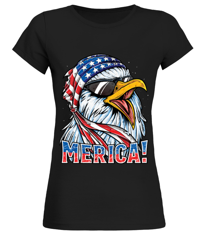 bc81bf53 Eagle Mullet T Shirt 4th of July American Flag Merica Men! - T-shirt ...