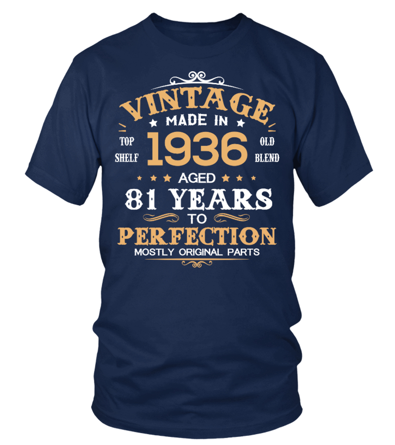 Vintage Made In 1936 Aged 81 Years