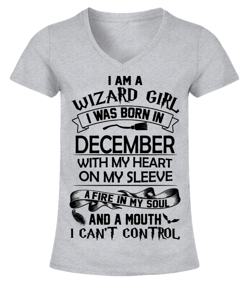 ed594603 HARRY POTTER DECEMBER GIRL A MOUTH CAN'T CONTROL T-SHIRT - T-shirt ...