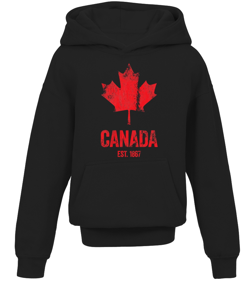 CANADIAN FLAG Fleece Pullover Hoodie Canada Canuck Funny Patriotic