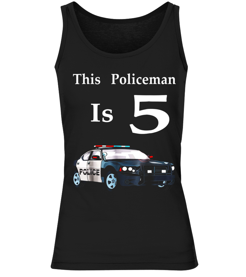 Policeman Car Shirt Birthday Boy For 5 Year Old