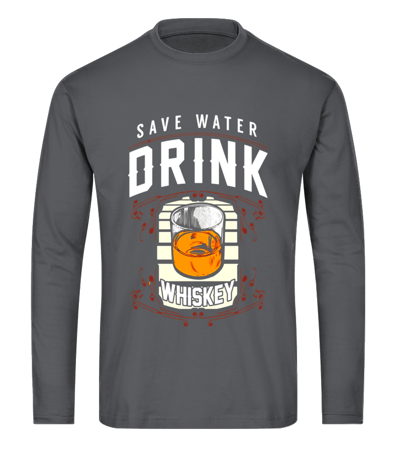 f38652222 Save Water Drink Whiskey Funny Drinking T-Shirt - T-shirt | Teezily