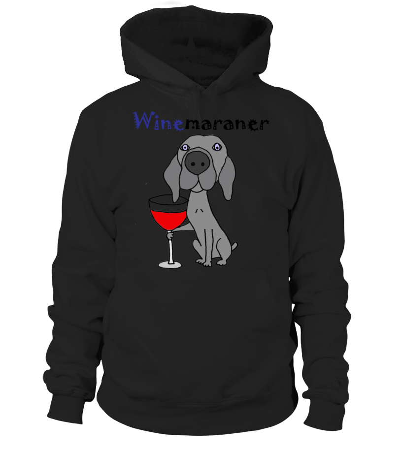 Funny Cool Weimaraner Dog Drinking Red Wine Art T Shirt By