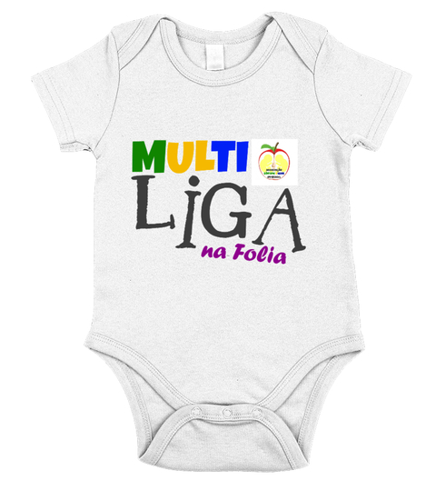Body Bebê Camiseta junior MULTI'LigaNaFolia | Teezily