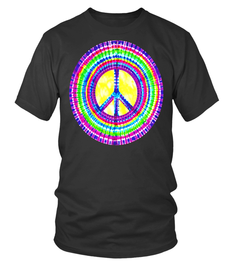 cea314100462 Tie Dye Peace Sign Tye Die Cool Hippie Rainbow T-Shirt - Limited Edition -