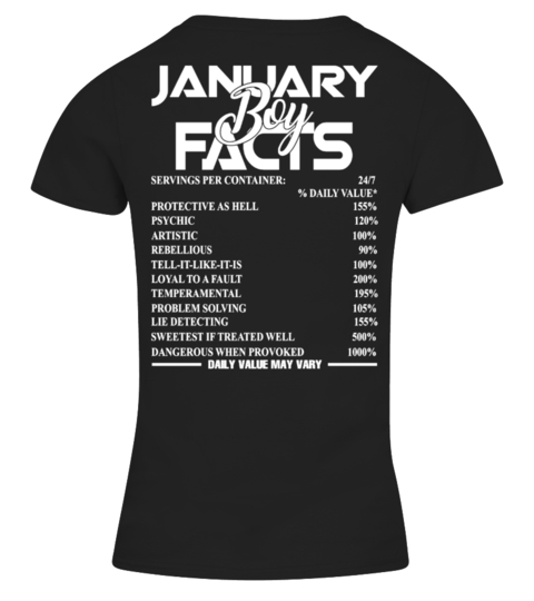 JANUARY BOY FACTS T-shirt | Teezily