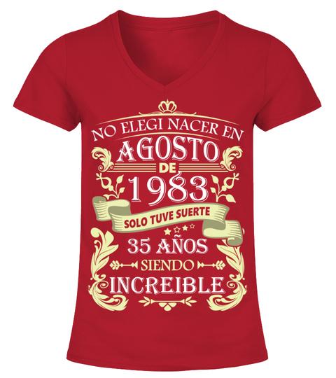 Camiseta Agosto 1983 | Teezily
