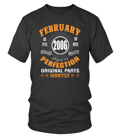 Camiseta 2006 February Vintage Aged Perfection | Teezily