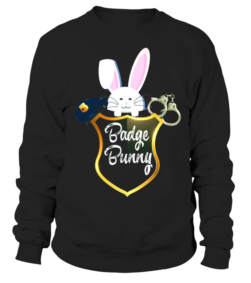 Funny Badge Bunny Love Police or Firemen - T-shirt | Teezily