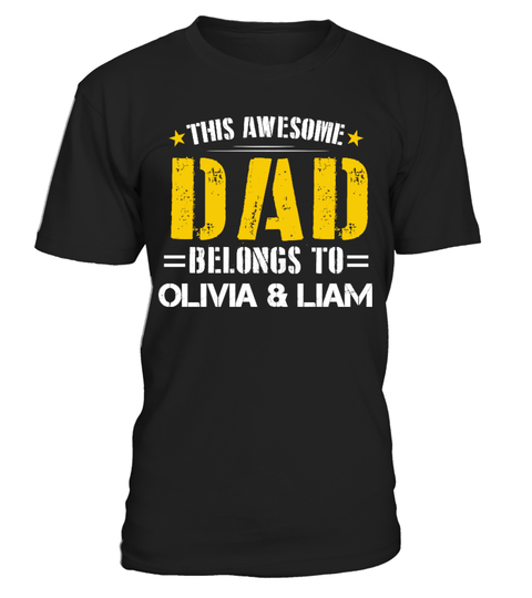 Awesome Dad Custom Shirt T-shirt | Teezily