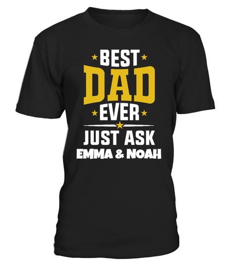Personalised World/'s Best Dad Mens T-Shirt S-3XL Custom Father/'s Day Present