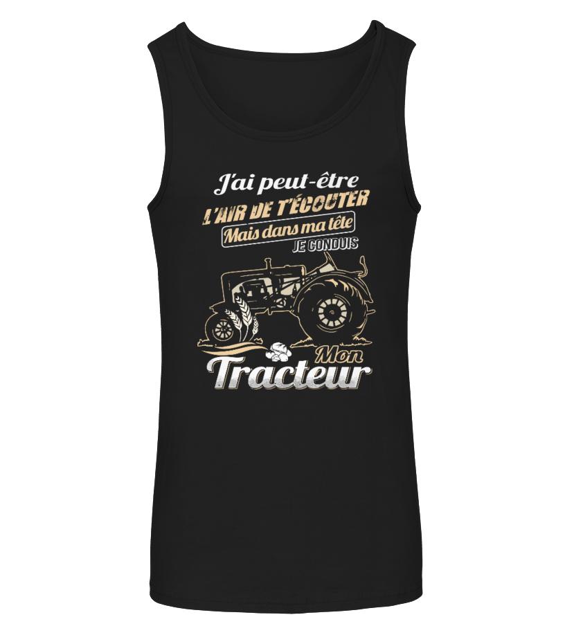 TEEZILY Sweat /à Capuche JAi Peut-/être lair de t/écouter mais dans ma t/ête Je conduis Mon Tracteur Unisex