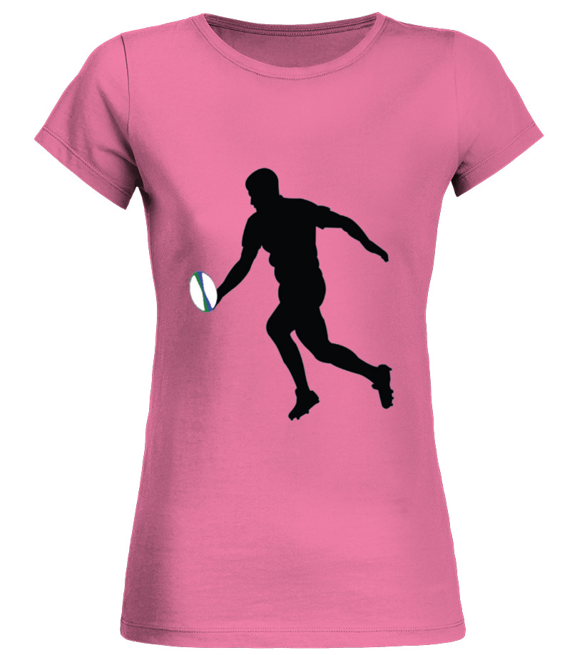 Men S Rugby Player Drop Kick Silhouette Cool Sports T-shirt