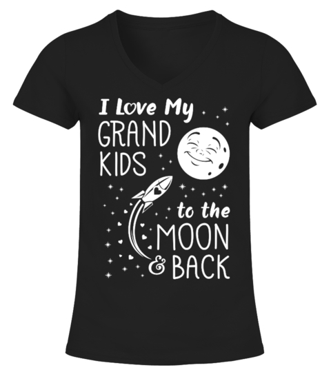 I Love My Grandkids To The Moon And Bac t-paita | Teezily