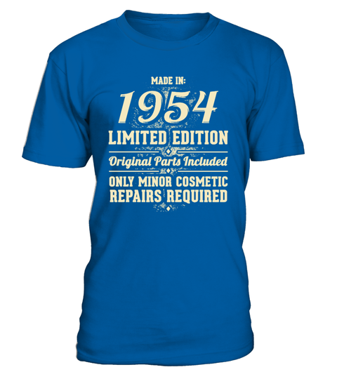 Born In 1954 Birthday Gift T-shirt | Teezily
