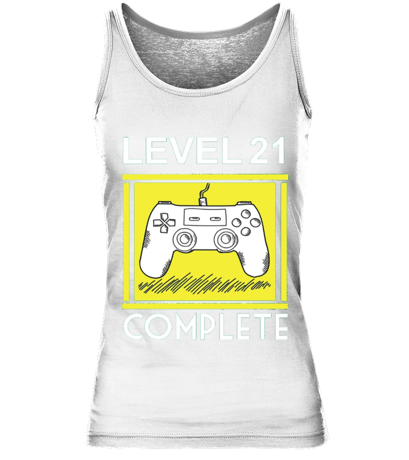 a04550c609 Level 21 Complete Funny 21st Birthday Tshirt Gamers Gift - T-shirt ...