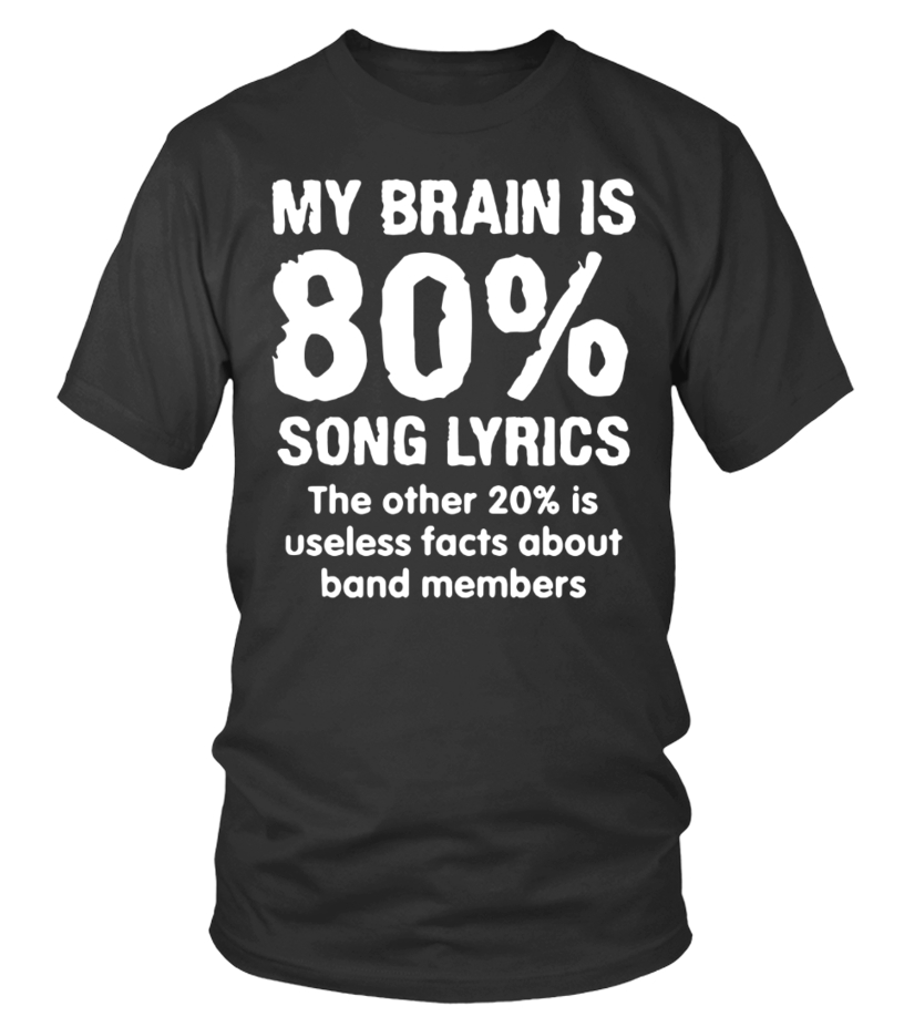My Brain Is 80% Song Lyrics The Other 20% Is Useless Facts About Band  Members