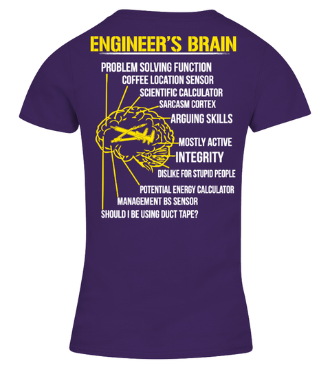 Engineer's Brain Funny T-shirt! t-paita | Teezily