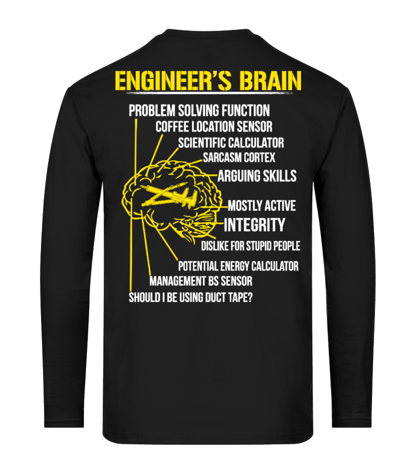 bf77b75893 Engineer s Brain Funny T-shirt! - T-shirt