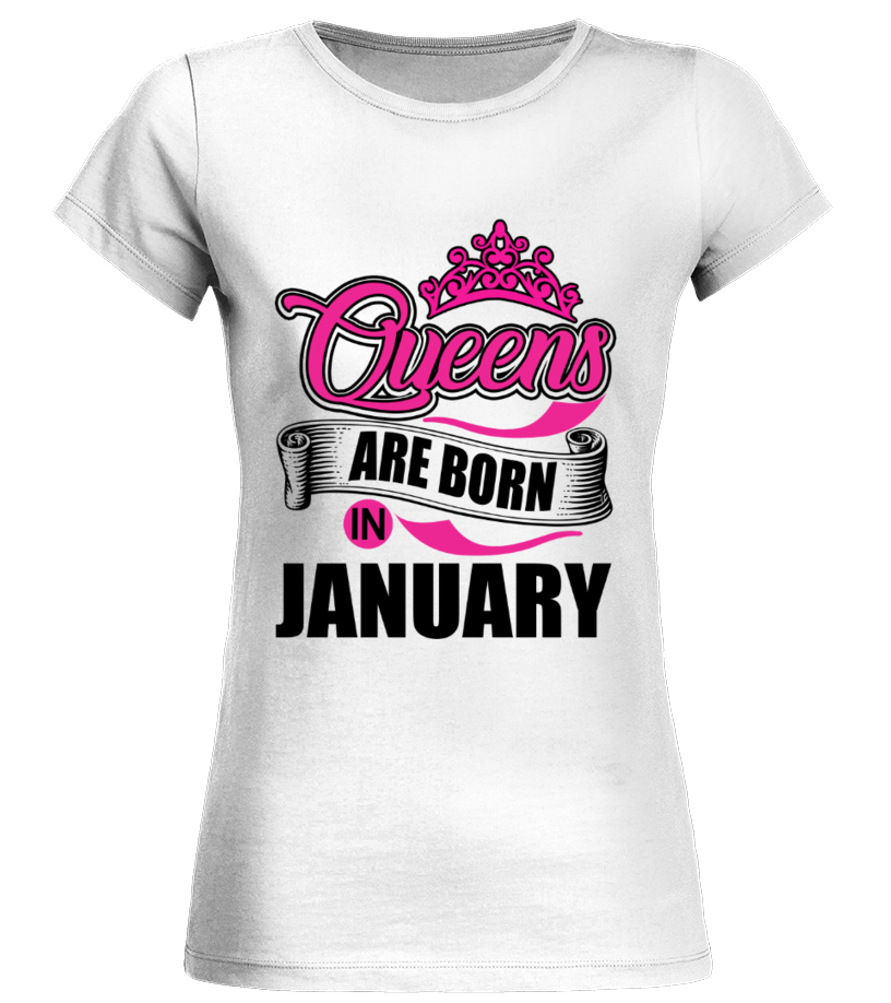 Queens are Born in January Premium Unisex Sweatshirt