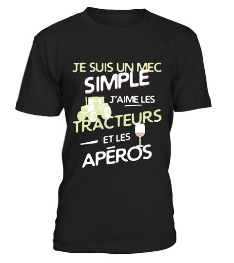 T-shirt Agriculteurs un mec simple | Teezily
