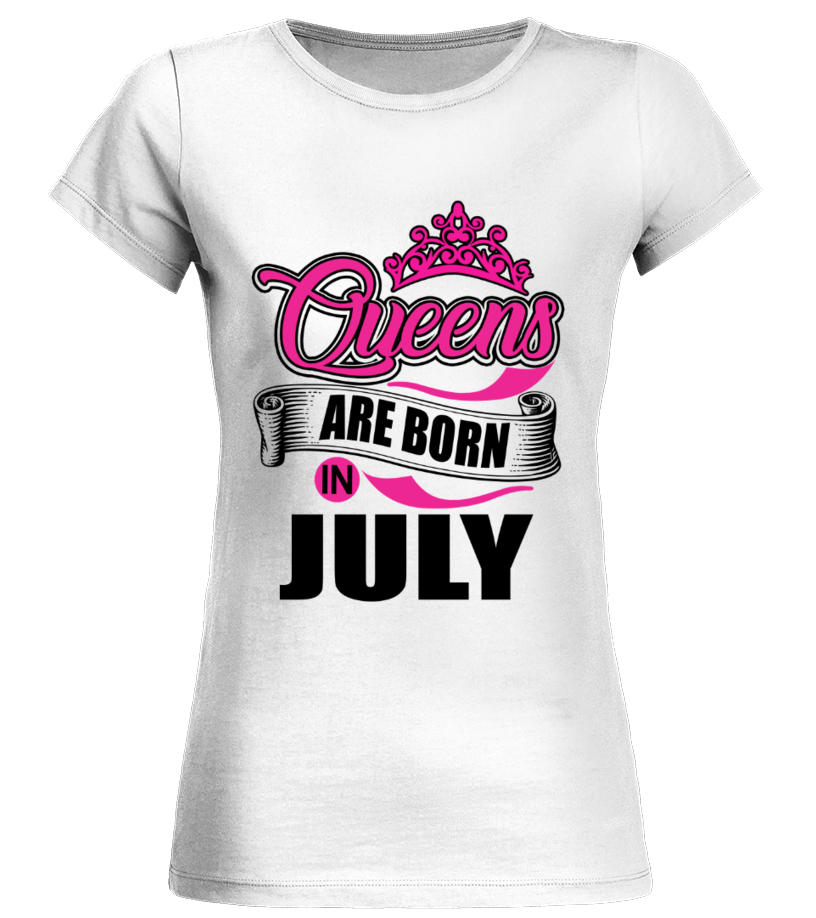 da0ab45c7 Queens are born in July - T-shirt | Teezily