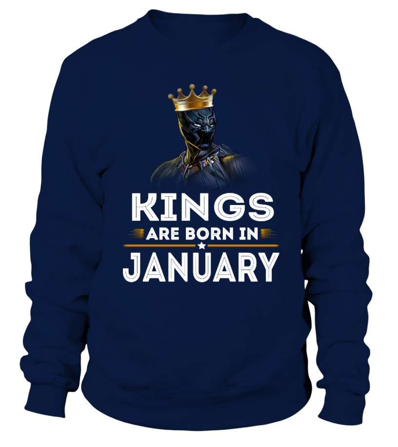 Kings Are Born In January Birthday Shirt