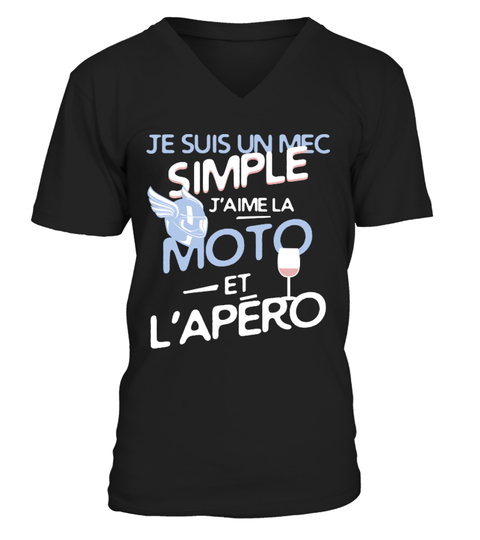 T-shirt MOTO un mec simple | Teezily
