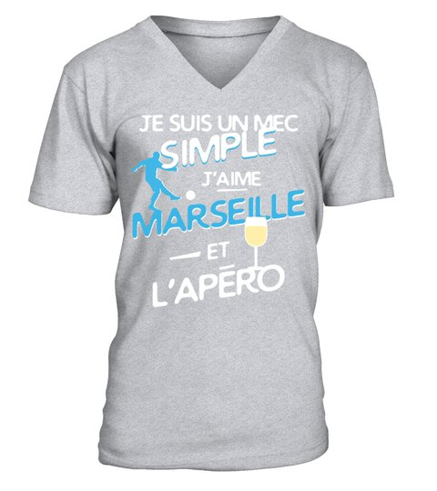 T-shirt Marseille un mec simple | Teezily
