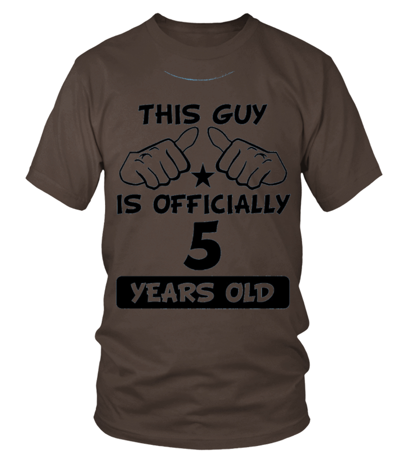 Kids This Guy Is Officially 5 Years Old Funny 5th Birthday Shirt 8 Baby Blue
