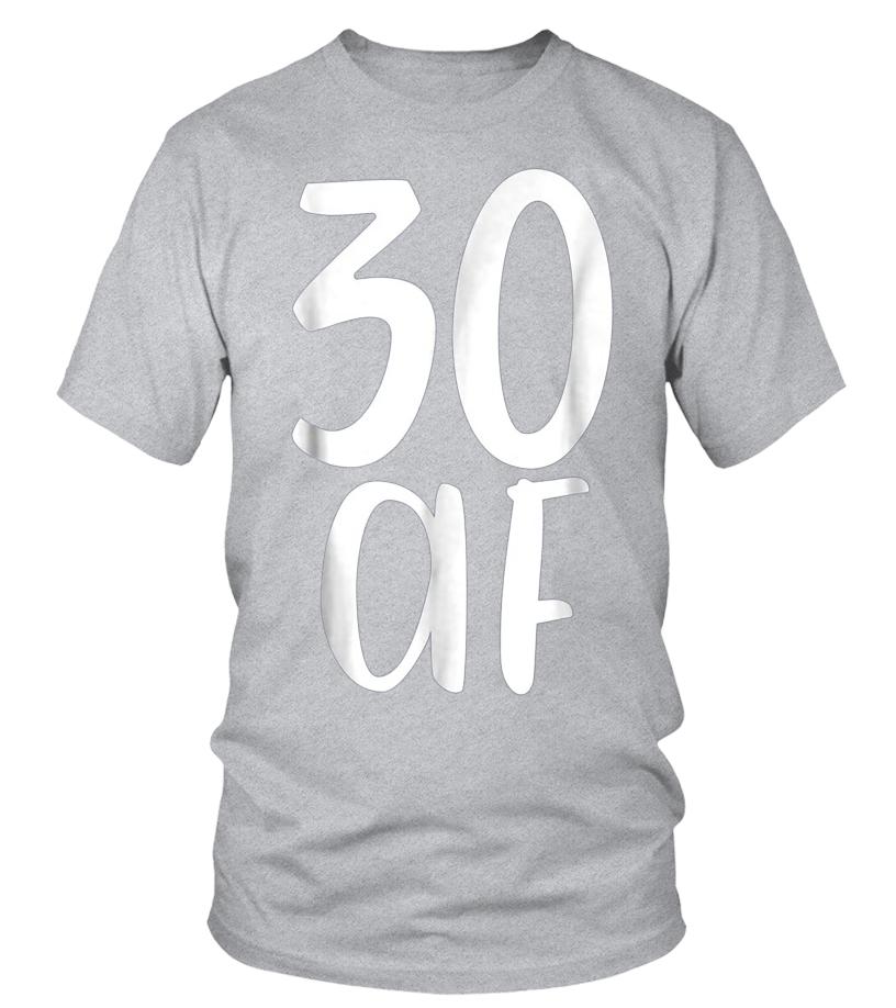 1b890c24 30 30 AF Fabulous Funny Tee Shirt Gift 30th Birthday Present - T-shirt