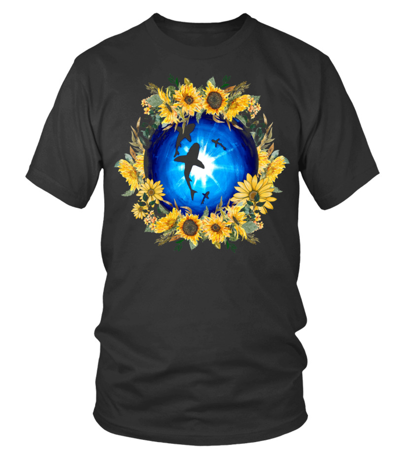 Sunflower Shark Lovers T-Shirt
