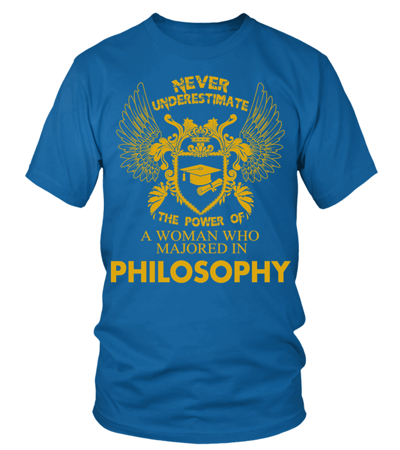 7a37ae10 Philosophy Shirt The Power of Woman Majored In Philosophy T Shirt - T-shirt
