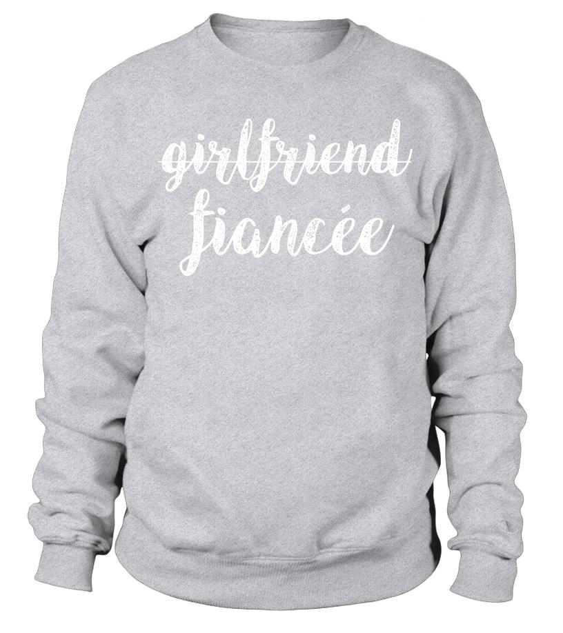 57b0df52 Womens Girlfriend Fiancee T Shirt, Fiance Engagement Party Tshirt ...