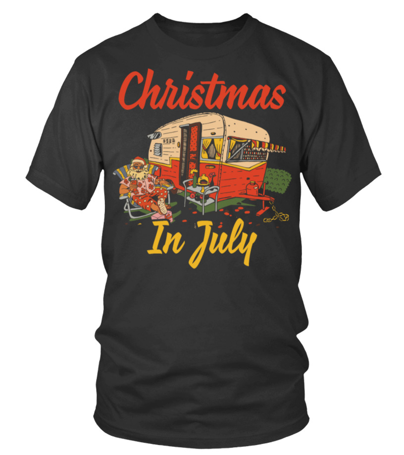Christmas In July Camping.4222 Christmas In July Festival Funny Camping T Shirt T
