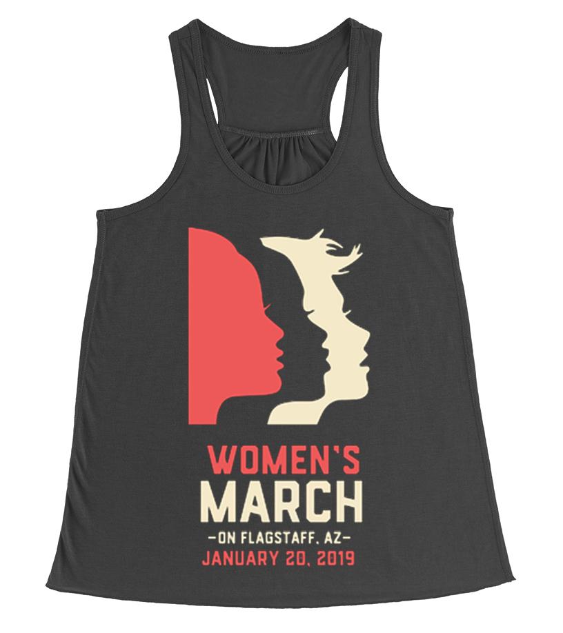 ed108f57845 WOMEN S MARCH 2019 FLAGSTAFF AZ SHIRT - T-shirt