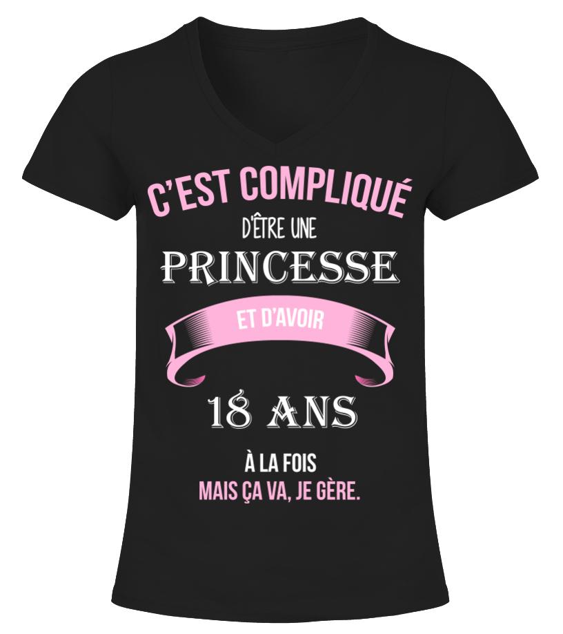 T shirt   C'est compliqué d'être une princesse et 18 ans à la fois