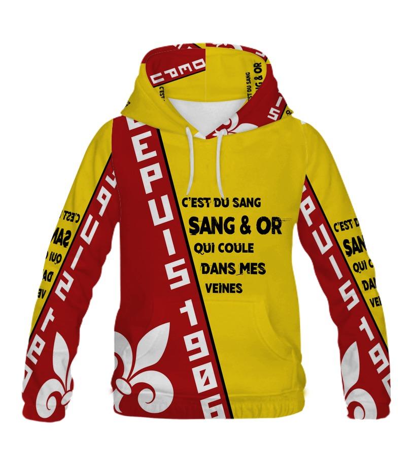 Shirt Sweat OrTeezily Sang Et Capuche T k8On0Pw